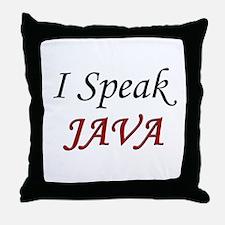 """I Speak Java"" Throw Pillow"