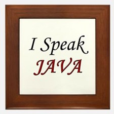 """I Speak Java"" Framed Tile"