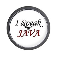 """I Speak Java"" Wall Clock"