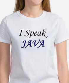 """I Speak Java"" Women's T-Shirt"