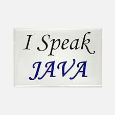 """I Speak Java"" Rectangle Magnet"