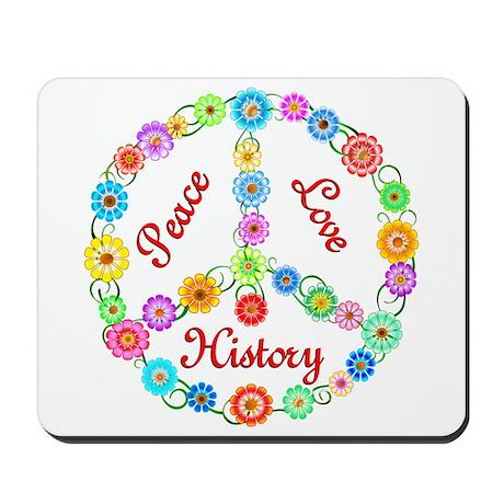 Peace Love History Mousepad