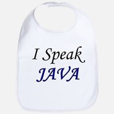 """I Speak Java"" Bib"
