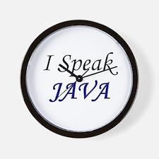 """I Speak Java"" Wall Clock"
