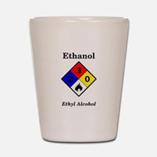 Ethanol MSDS Label Shot Glass
