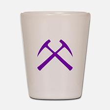 Purple Rock Hammers Shot Glass