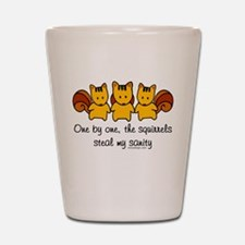 One by one, the squirrels Shot Glass