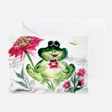 """""""Sunny Day Frog"""" Greeting Cards (Pk of 10)"""