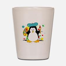 Artistic Penguin Shot Glass