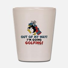 Golfing Penguin Shot Glass