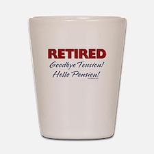 Retired: Goodbye Tension Hell Shot Glass