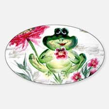 """""""Sunny Day Frog"""" Oval Decal"""