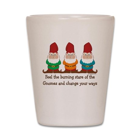 Burning Stare of The Gnomes Shot Glass