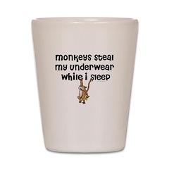 Monkeys steal my... Shot Glass
