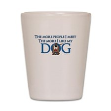 I Like My Dog Shot Glass