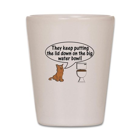Dogs and Toilets Shot Glass