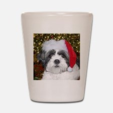 Christmas Shih Tzu Shot Glass