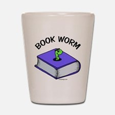 Book Worm Shot Glass