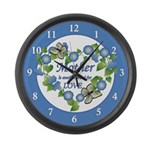 Mother's Love Heart Large Wall Clock