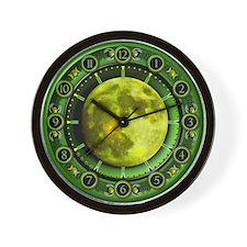 Clock of the Green Moon Wall Clock