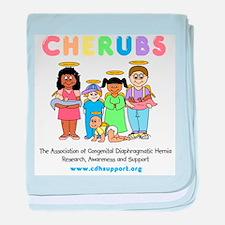 CHERUBS Logo - Pastel baby blanket