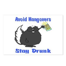 Funny Stay Drunk Postcards (Package of 8)