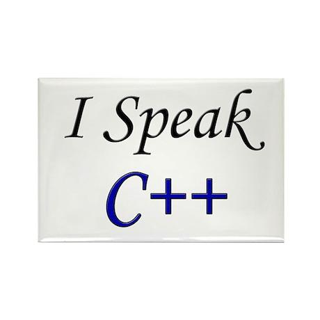 """I Speak C++"" Rectangle Magnet"