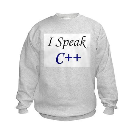 """I Speak C++"" Kids Sweatshirt"