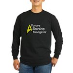 Future Starship Navigator Long Sleeve Dark T-Shirt
