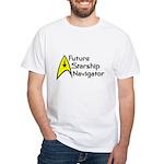 Future Starship Navigator White T-Shirt