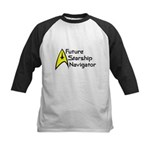 Future Starship Navigator Kids Baseball Jersey