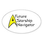 Future Starship Navigator Sticker (Oval 50 pk)