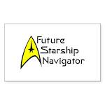 Future Starship Navigator Sticker (Rectangle 10 pk