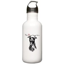Greyhound Happy Face Water Bottle