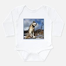 Alaskan Malamute Long Sleeve Infant Bodysuit