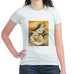 Yellow Splash English Trumpet Jr. Ringer T-Shirt