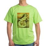 Yellow Splash English Trumpet Green T-Shirt