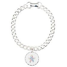 Winged CDH Awareness Ribbon Bracelet