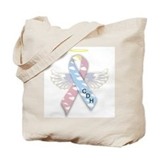 Winged CDH Awareness Ribbon Tote Bag