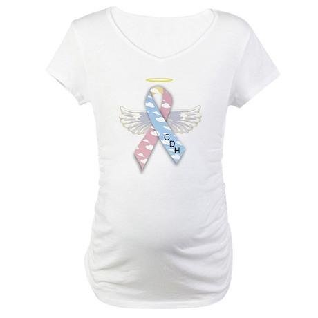 Winged CDH Awareness Ribbon Maternity T-Shirt