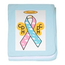 Kids Winged CDH Awareness Ribbon baby blanket