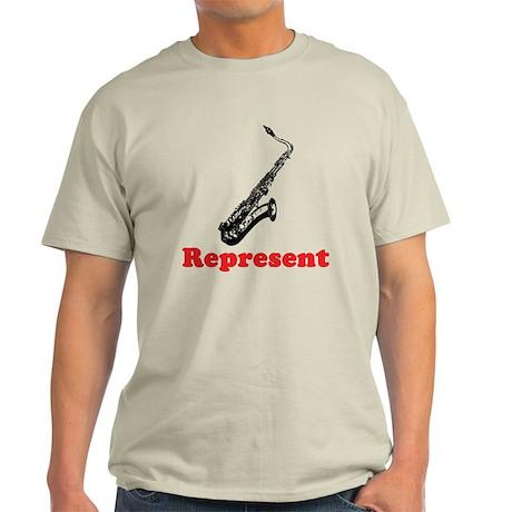 Saxophone Represent Light T-Shirt