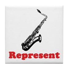 Saxophone Represent Tile Coaster