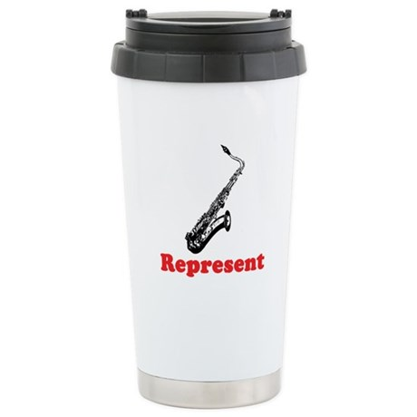 Saxophone Represent Stainless Steel Travel Mug