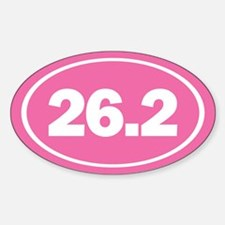 26.2 Oval Pink Decal