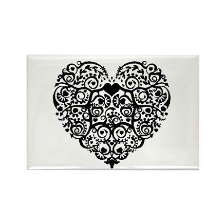 Heart Roots Rectangle Magnet