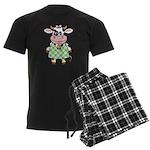 Dressed Up Cow Men's Dark Pajamas