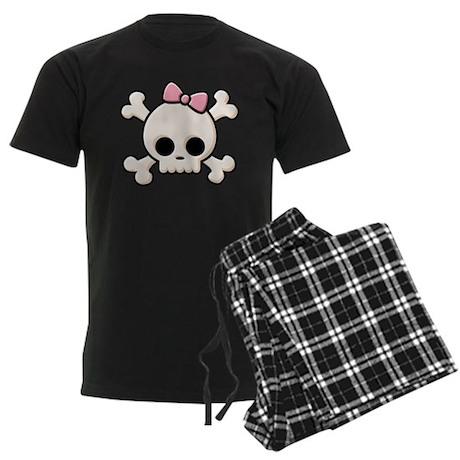 Cute Skull Girl Men's Dark Pajamas
