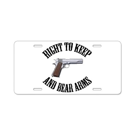 Right To Keep And Bear Arms A Aluminum License Pla