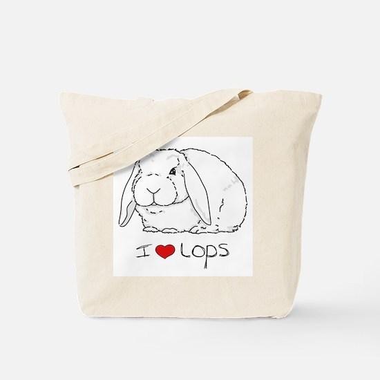 I Love Lops 2 Tote Bag